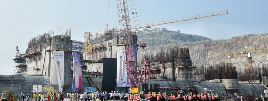 Polavaram dam project in Andhra sets record in concrete pouring