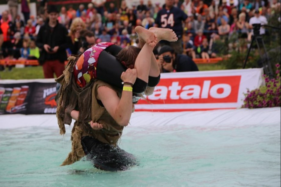 Odd News Roundup: Lithuanian couple defends world wife-carrying championship title