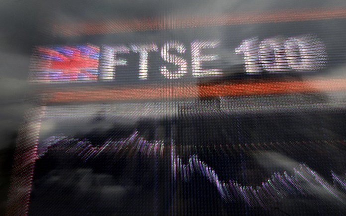 UPDATE 1-Sky, Randgold surge on deals while trade war weighs on FTSE 100