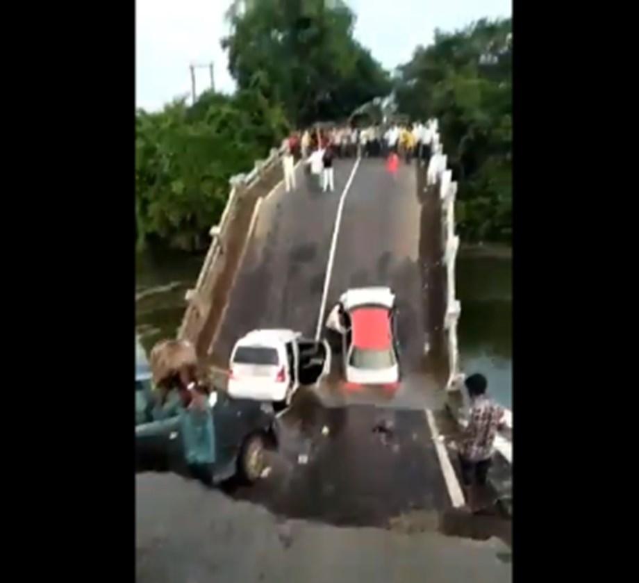 Bridge collapses in Gujarat, four injured