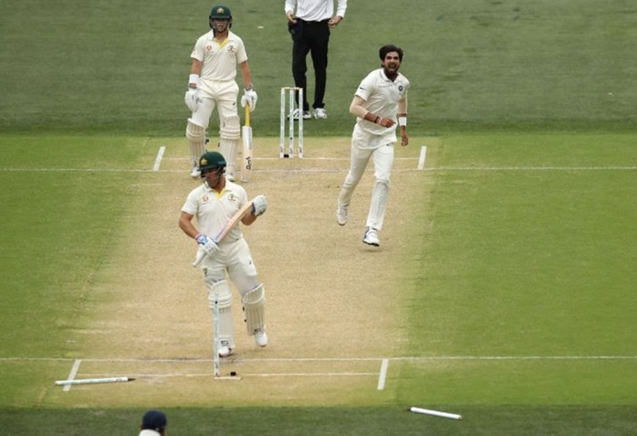 UPDATE 2-Cricket-Australia stumble in reply to India's colossal total