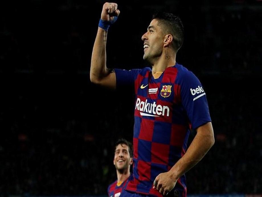 Luis Suarez happy after scoring his career's best goal