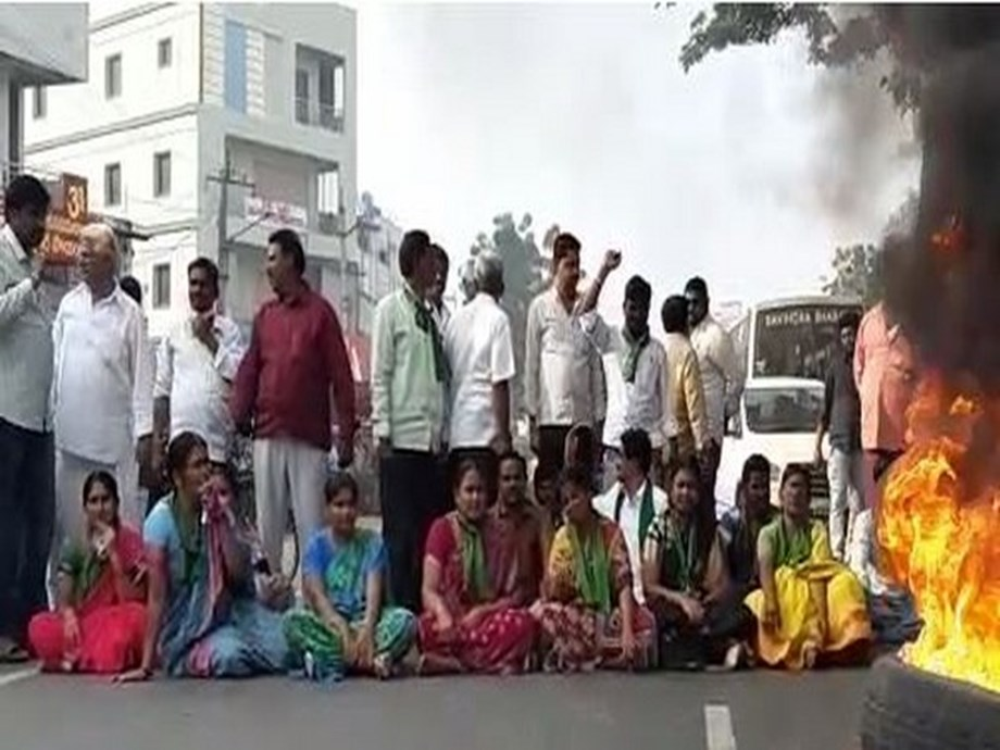 Andhra Pradesh: TDP leaders hold sit-in protest in Krishna district over capital row