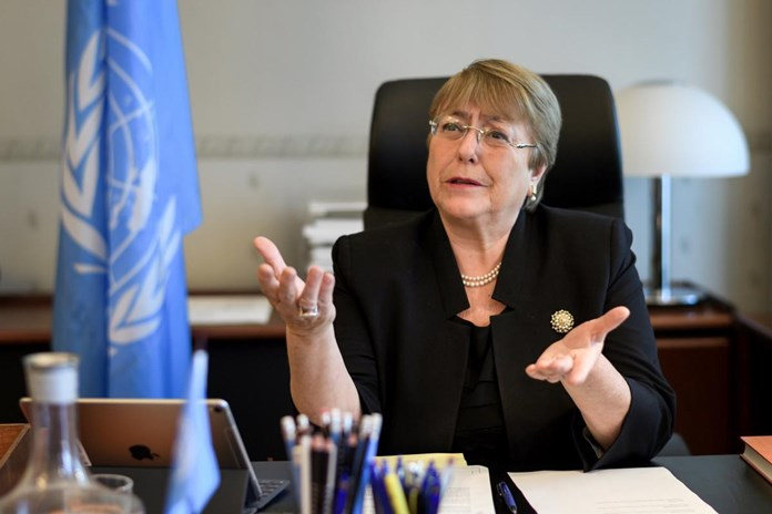 UN rights chief Bachelet takes on China, Criticizes Saudi Arabia over air strikes in Yemen