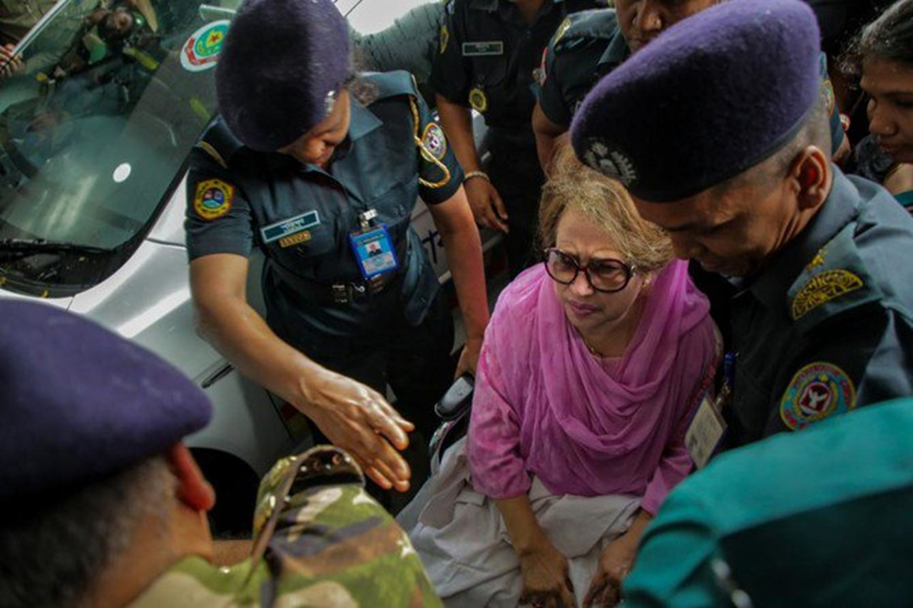 UPDATE 4-Bangladesh court doubles former PM Khaleda Zia's jail term to 10 years