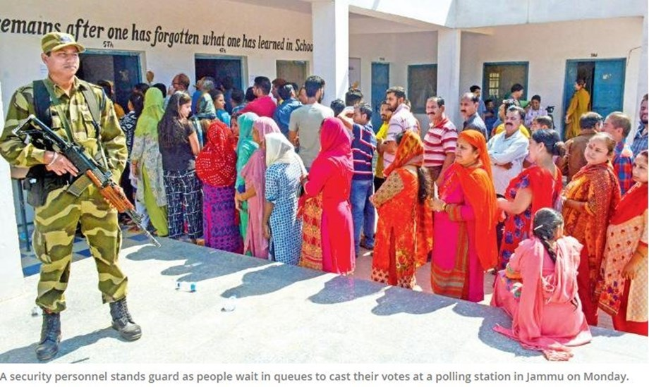 Nearly 80 per cent of over 1.26 lakh voters exercised franchise in Jammu