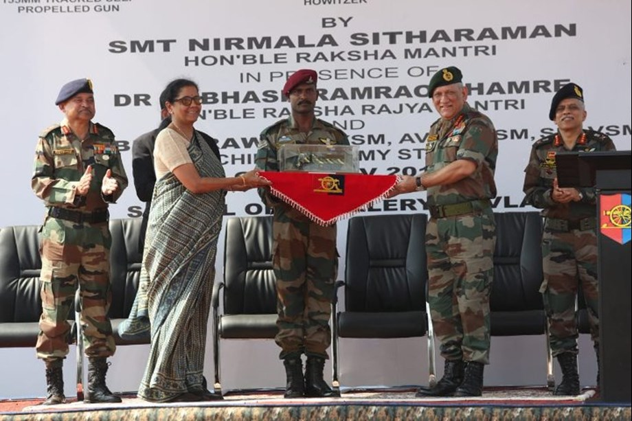 Three major artillery gun systems inducted into Indian Army