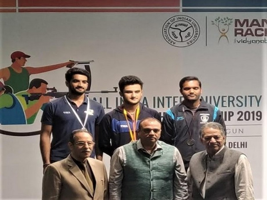 OPJS University's Nishant Dalal won silver medal in Inter-University competition 2019