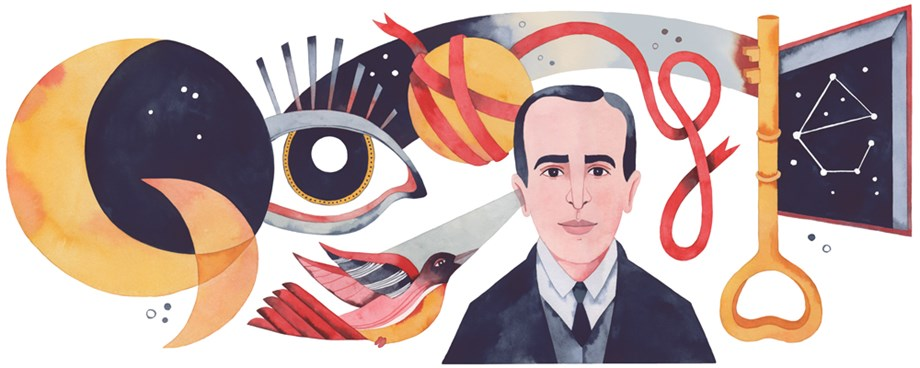 Google celebrates Vicente Huidobro's 127th Birthday with a doodle