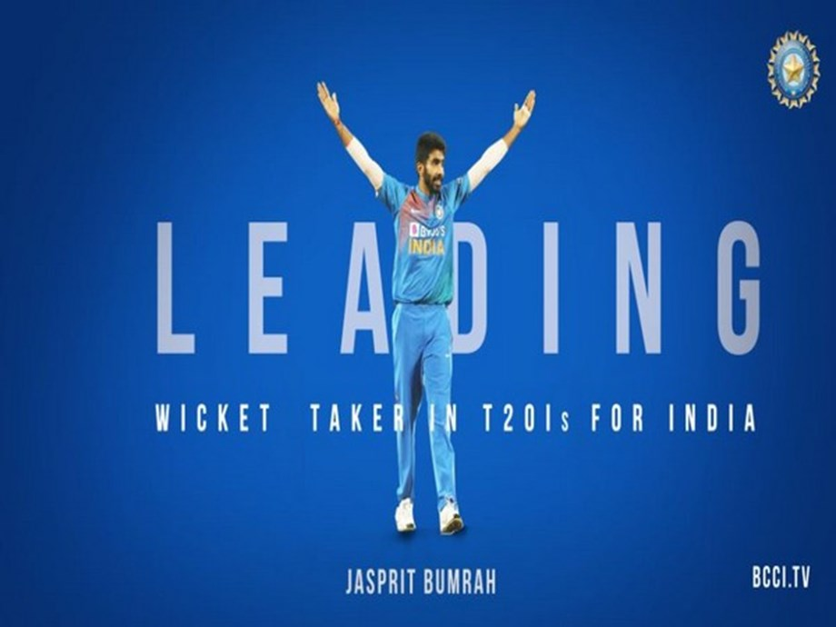 Jasprit Bumrah becomes leading wicket-taker in T20Is for India