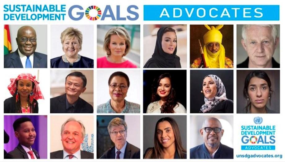 Six new public figures sign up as officialSDG Advocates to meet 2030 Agenda