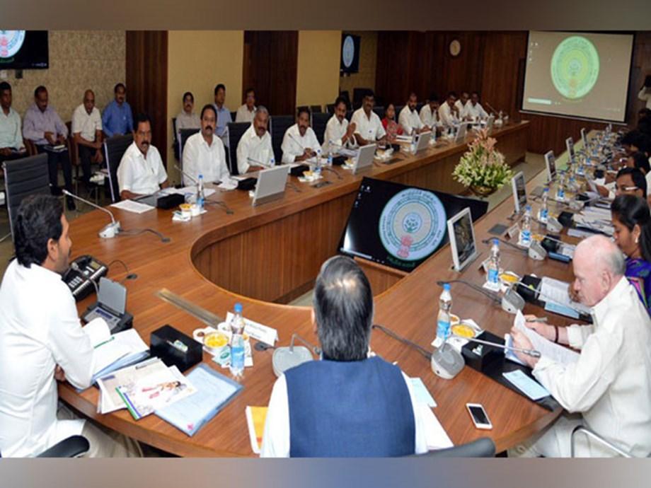 Andhra Pradesh CM YS Jagan Mohan Reddy holds his first cabinet meeting