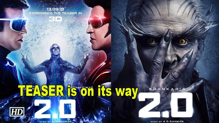 "Rajinikanth & Akshay's ""2.0"" TEASER is on its way 