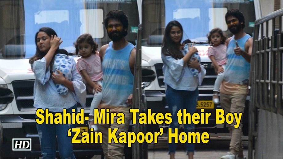 Mom & Dad Shahid- Mira Takes their Boy 'Zain Kapoor' Home