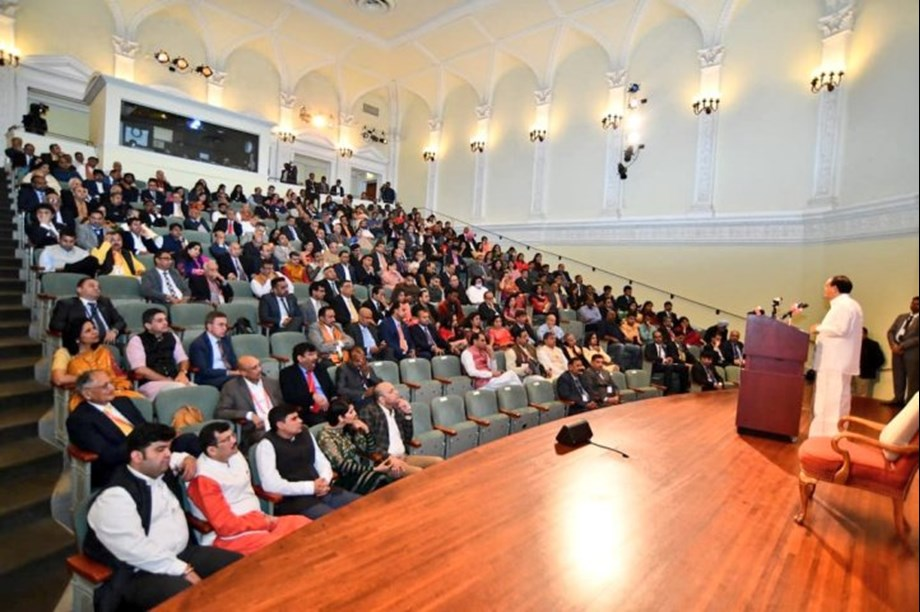 VP Venkaiah Naidu addresses Indian diasporas in the USA