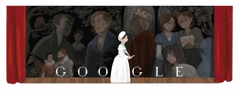 Google Doodle celebrates Joanna Baillie's 256th birthday