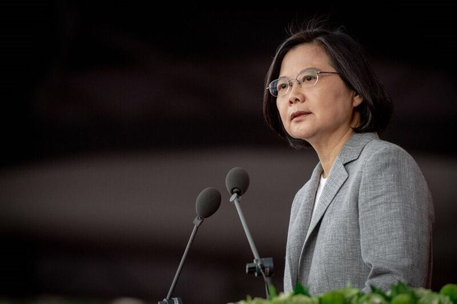 "Taiwan would not ""concede one step"" in defending itself: Prez Tsai"
