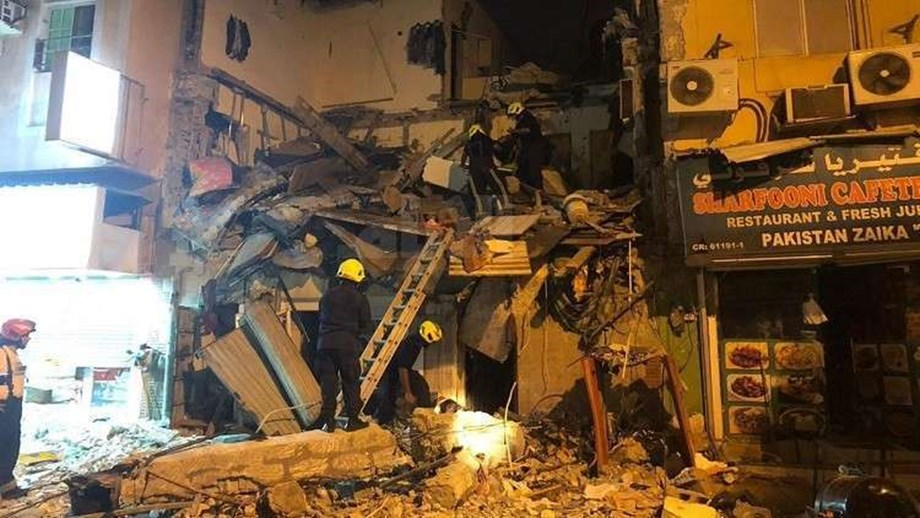 UPDATE 1-Bahrain building collapse kills four, injures at least 20 -ministry