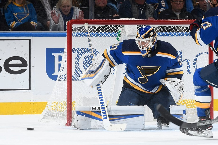 Johnson defense helps Blues 4-0 victory over Sharks