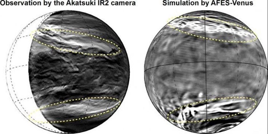 Giant streak structure discovered in clouds of Planet Venus