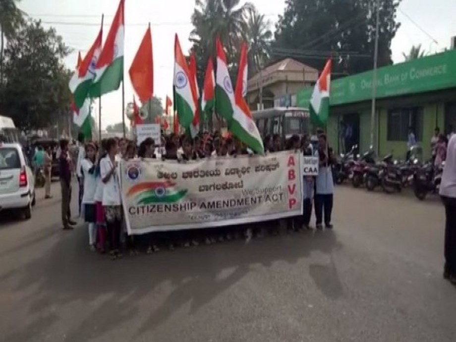 Hundreds of students participate in pro-CAA march in Karnataka