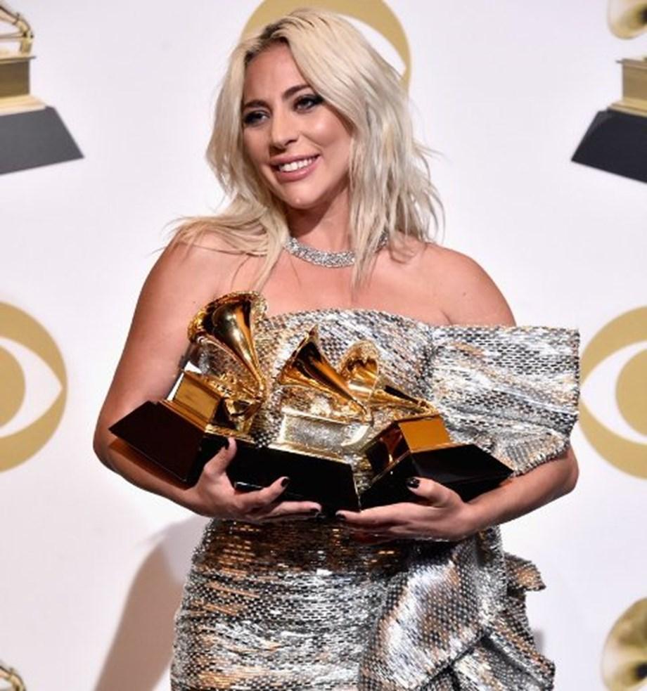 Lady Gaga's Tiffany & Co. platinum jewelry at 61st Grammy awards