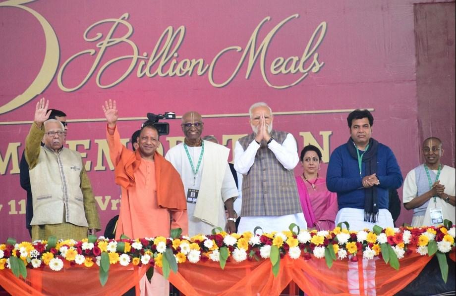 Modi at Akshaya Patra event emphasizes on nourishment, vaccination, sanitation