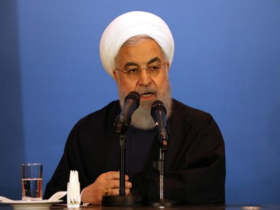 UPDATE 1-Iran's Rouhani says U.S. actions threaten Middle East stability