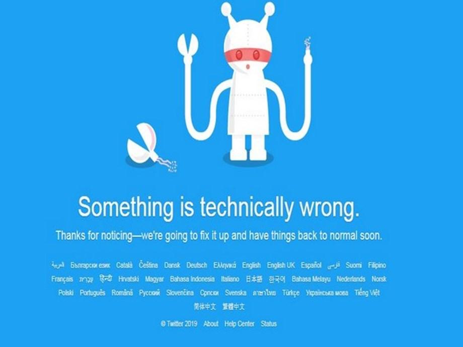 Twitter down worldwide