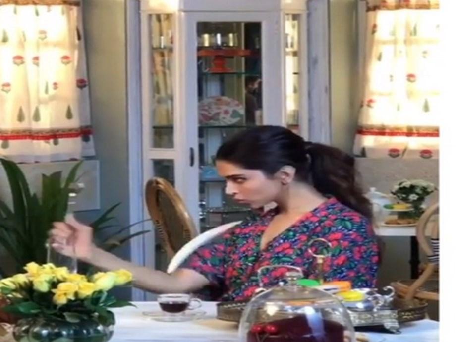 Deepika Padukone continues to gorge on Ranveer Singh's ...