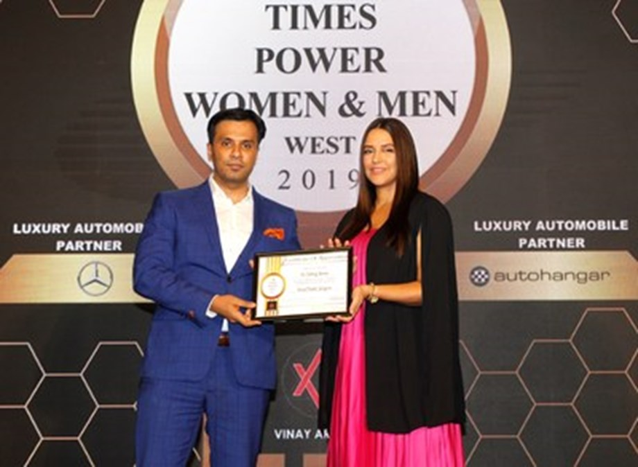 Prominent Plastic and Cosmetic Surgeon Dr. Debraj Shome Felicitated with the Times Power Men Award