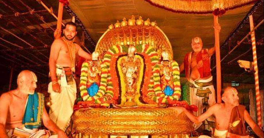 """Navaratri Brahmotsavam"" commenced Wednesday at famous Lord Venkateswara hill shrine"