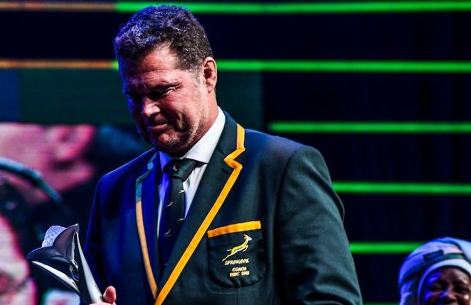 Springboks' Erasmus and Kolisi honored at SA Sports Awards