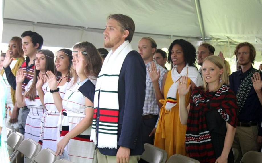 Ambassador administers oath of service to new Peace Corps Volunteers at US Embassy