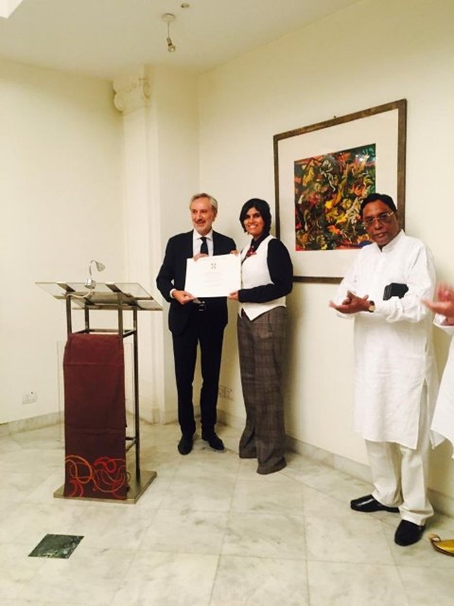 Italy confers Knighthood on Indian author