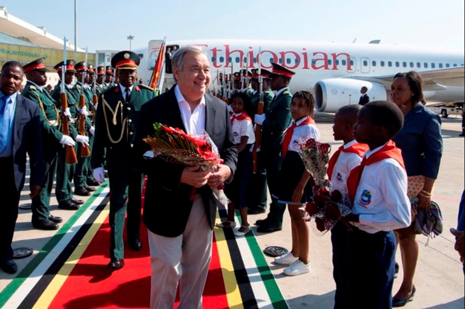 UN would be with Mozambican people in all phases, António Guterres says