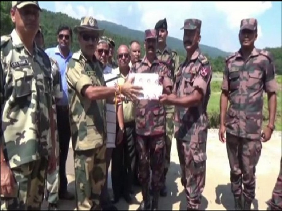 BSF, BGB personnel exchange sweets along Meghalaya border