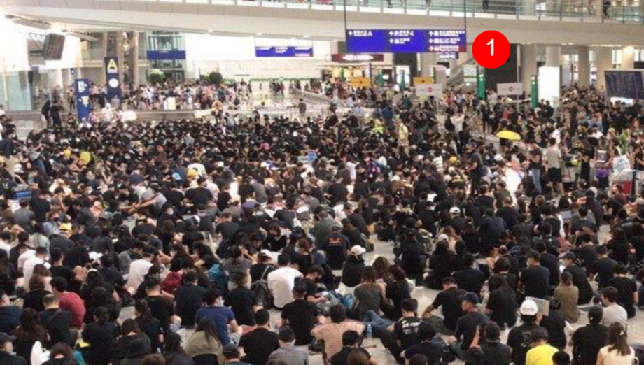 Watch: Hong Kong cancels all flights as protesters paralyze airport operations