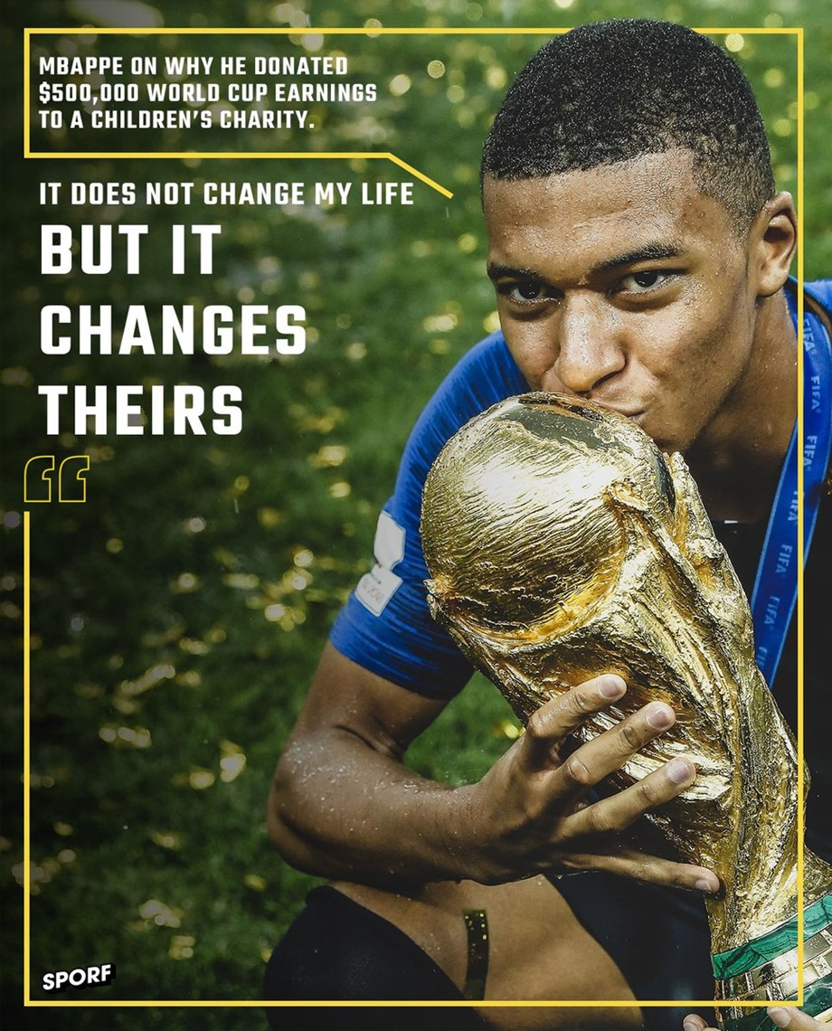 'Future of Soccer' Kylian Mbappe in the cover page of Time magazine's