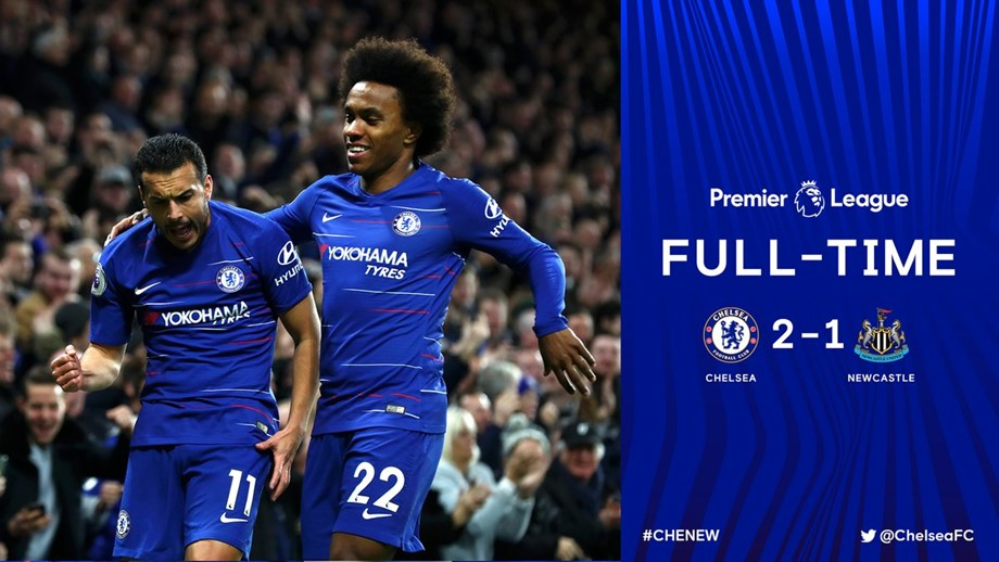 Chelsea vs Newcastle: Pedro, Willian goals help Chelsea to beat Newcastle 2-1