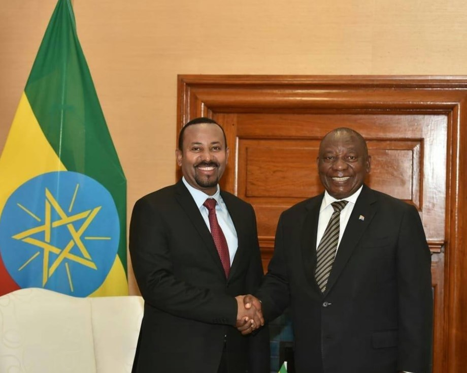 Abiy Ahmed invites Cyril Ramaphosa to develop Nelson Mandela heritage site