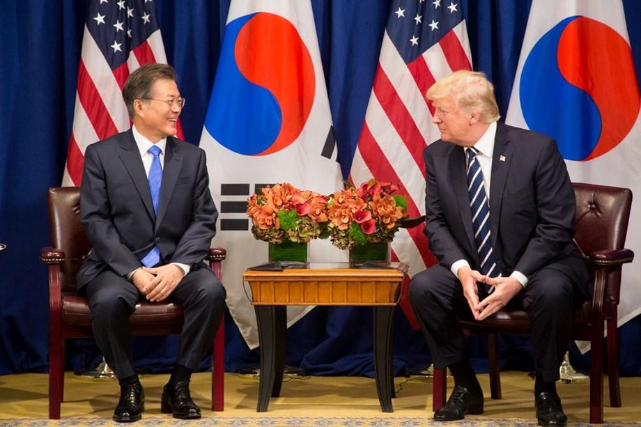 Trump, Moon discuss recent developments regarding North Korea
