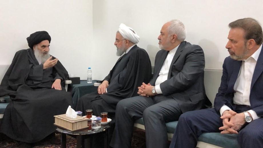 Iraq's top Shi'ite cleric underscores importance of sovereignty during Rouhani visit