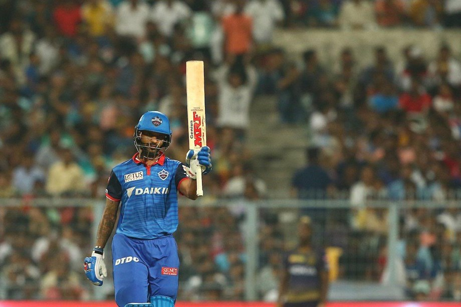 Dhawan anchors 7 wicket victory to Delhi Capitals against KKR