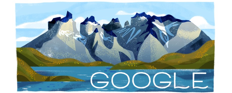 Google celebrates 60th Anniversary of Torres del Paine National Park with doodle