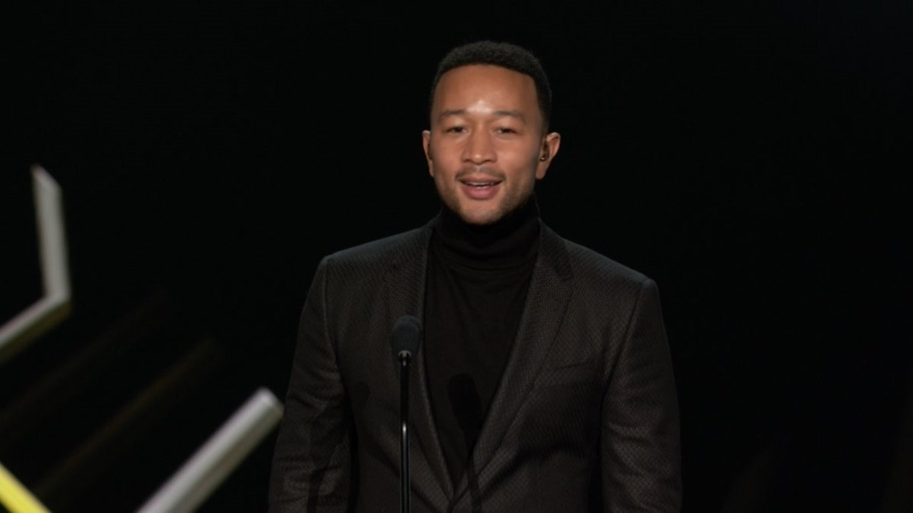 Musician John Legend got emotional while honoring wife Chrissy Teigen