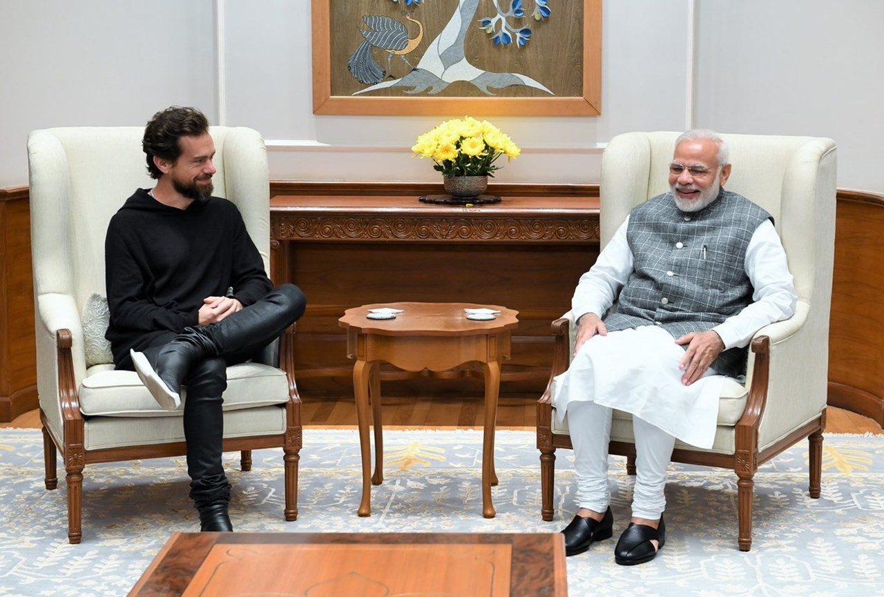 PM Modi meets Twitter CEO; both exchange tweets praising each other