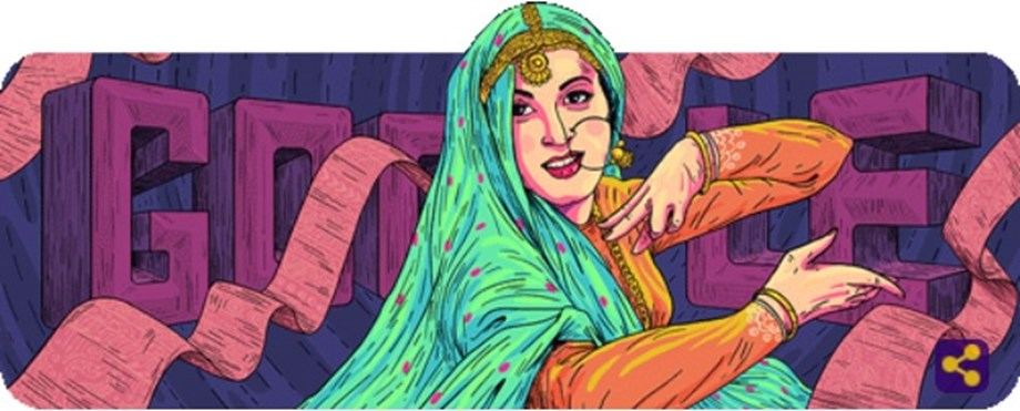 "Google doodle celebrates ""The Marilyn Monroe of Bollywood"" Madhubala's 86th birthday"