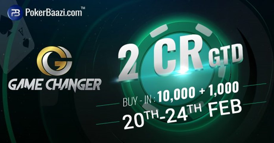 PokerBaazi declares online poker tournament GameChanger with price pool of 2cr