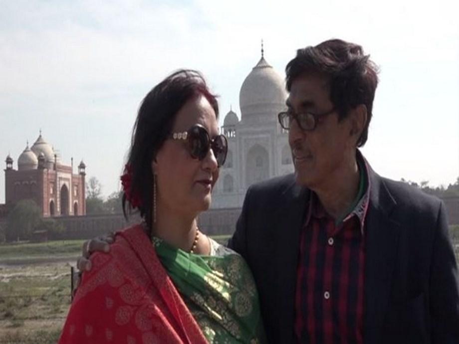 On Valentine's Day, lovebirds flock to the Taj Mahal